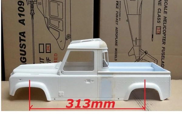 Land Rover Pick Up Truck Body Shell 1 10 Scale For 313mm