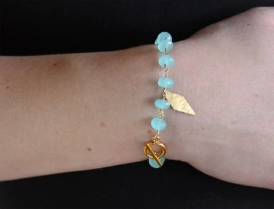 Ethical Fashion   Handmade Jewelry   Accessories  USA    Ethical Fashion   Handmade Aqua Stone Bracelet
