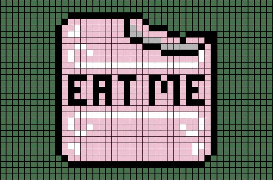 Alice In Wonderland Eat Me Cake Pixel Art Brik