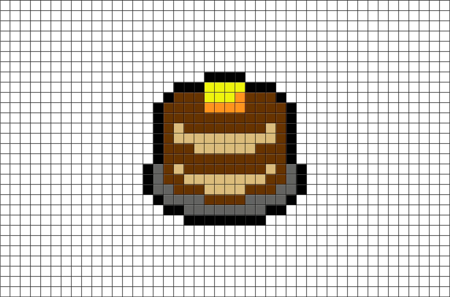 Pancake Pixel Art Brik