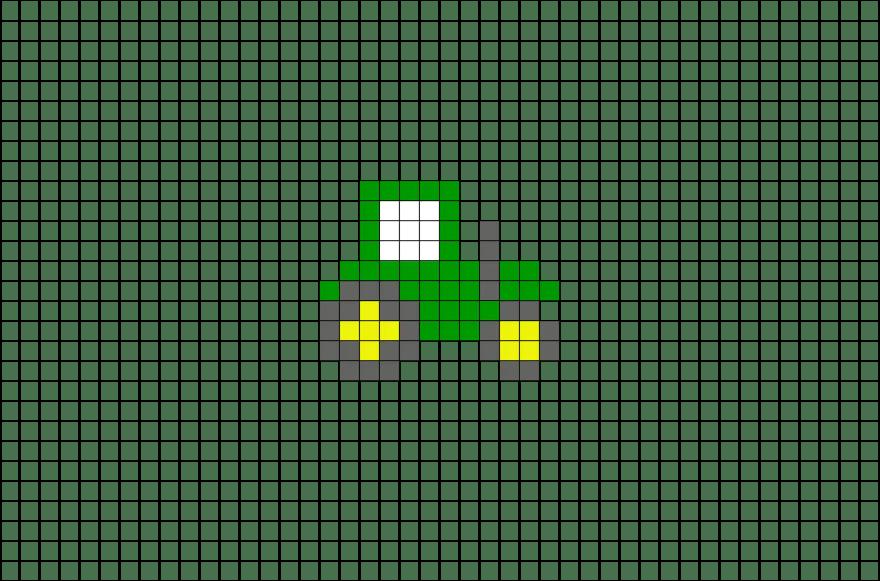 Tractor Pixel Art Brik