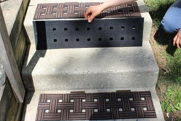 Fix Slippery Outdoor Stairs With No Slip Mats – No Slip Str*P   Outdoor Stair Treads For Ice   Non Slip   Carpet Stair   Blue Ice   Anti Slip Stair Nosing   Rubber Stair