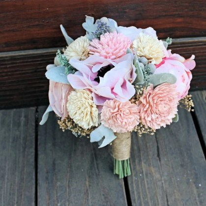 Keepsake Bridesmaid Bridal Bouquet   Silk Flowers  Peony  Anemone     Keepsake Bridesmaid Bridal Bouquet   Silk Flowers  Peony  Anemone  Sol      CuriousFloral