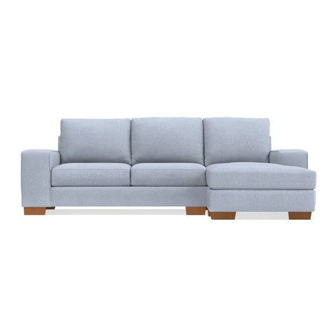 Contemporary Reversible Chaise Sofas   Apt2B com Melrose Reversible Chaise Sleeper Sofa
