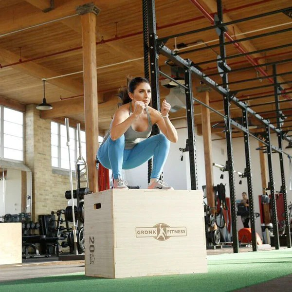 Wood Plyo Box W Bamboo Finish Gronk Fitness Products