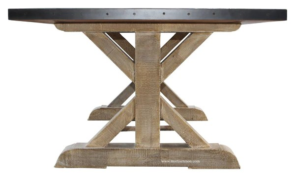 Battery Park Zinc Top Dining Table Mortise Amp Tenon