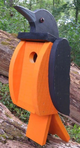 Baltimore Oriole Birdhouse Amish Handmade Garden Decor