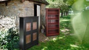BOOKCASE CABINET ~ Amish Handmade Primitive Country Decor