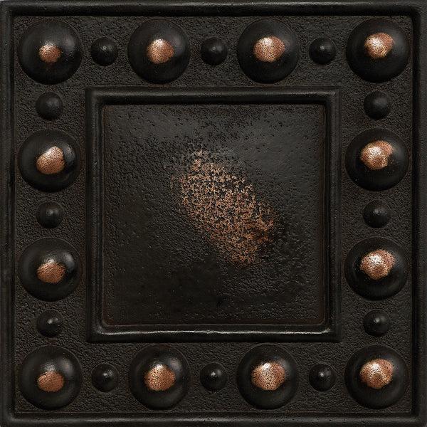 4 X 4 Dots Decorative Metal Insert Antique Bronze Deko