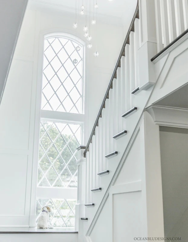 Modern Traditional Interior Design Project Locust Valley New | Modern Staircase Window Design | Architecture | Small House Stair | Section Window | Elegant | Wooden
