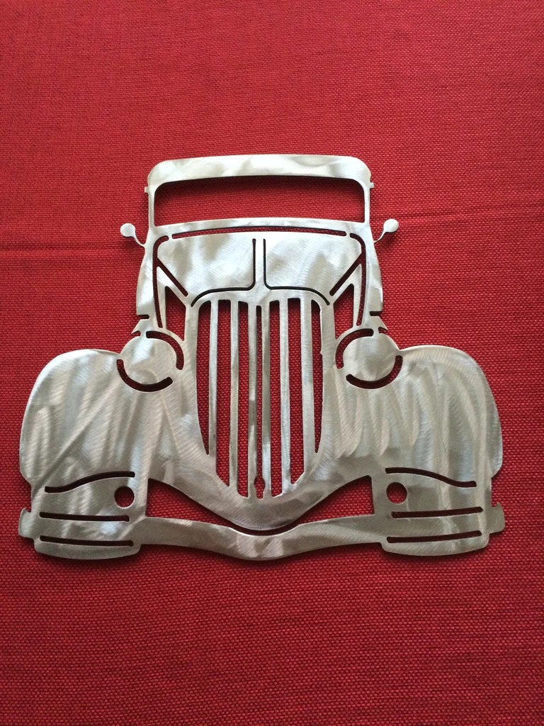 Dodge Chevy Ford Metal Wall Moon Light Metal Design