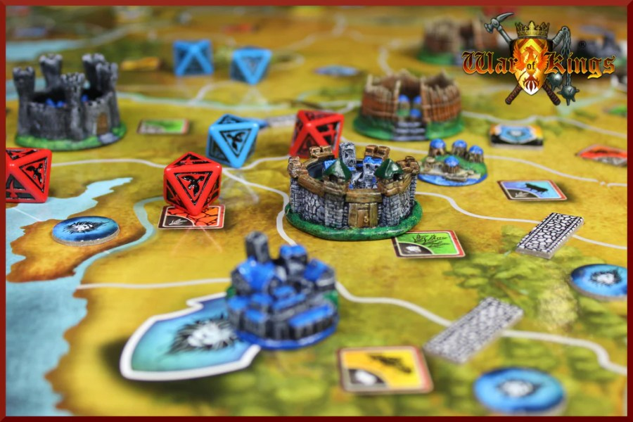 Medieval Strategy Board Game   6 Players   War of Kings     RAINN Studios     War of Kings   Medieval Strategy Board Game