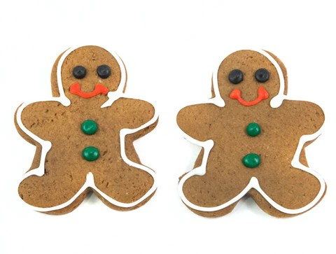 Gingerbread Men Christmas Cookie Decorating Kit     Cookies to Decorate Gingerbread Men