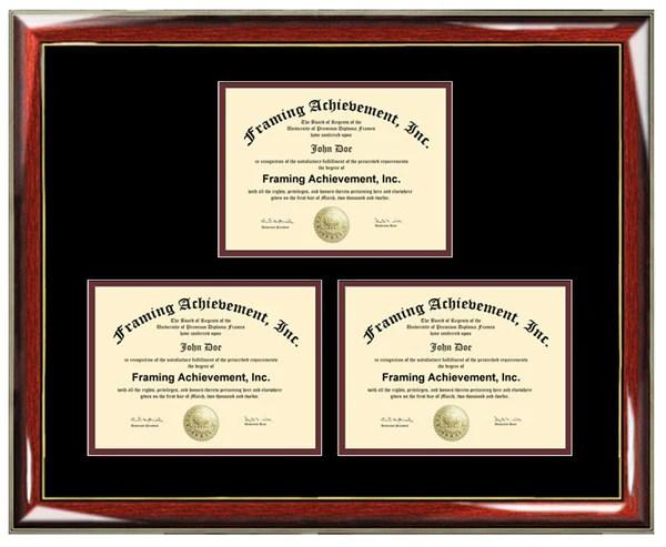 Three Certificate Frame Degree Framing Holds 3 Diploma
