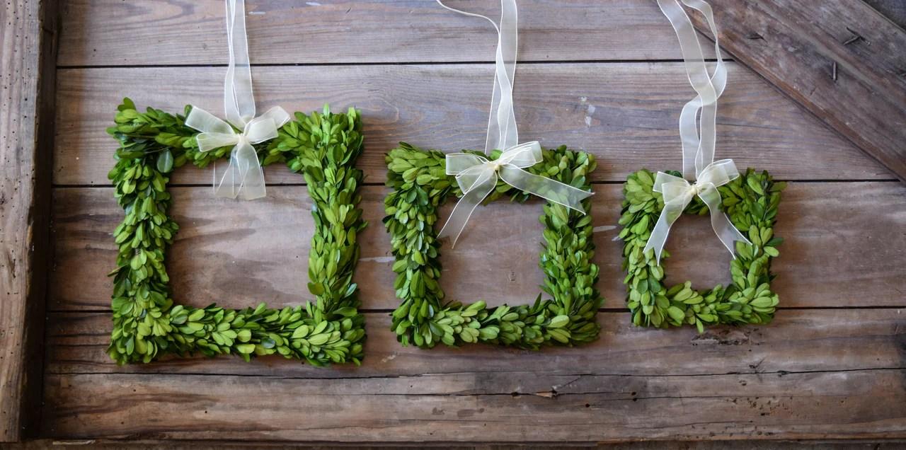 Preserved Boxwood Square Wreath Set of 3 | Home Decorative ...