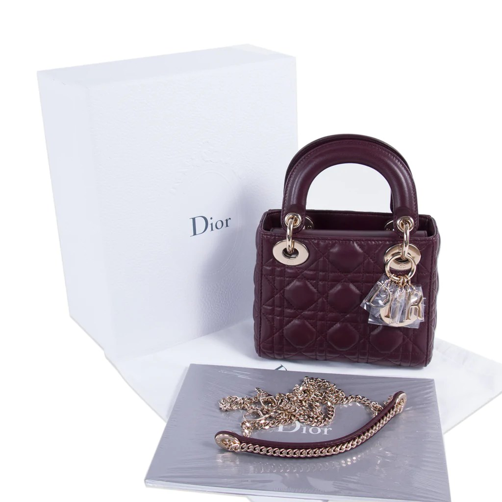 Shop Authentic Christian Dior Mini Lady Dior Bag At Revogue For Just e8a4a43e07af6