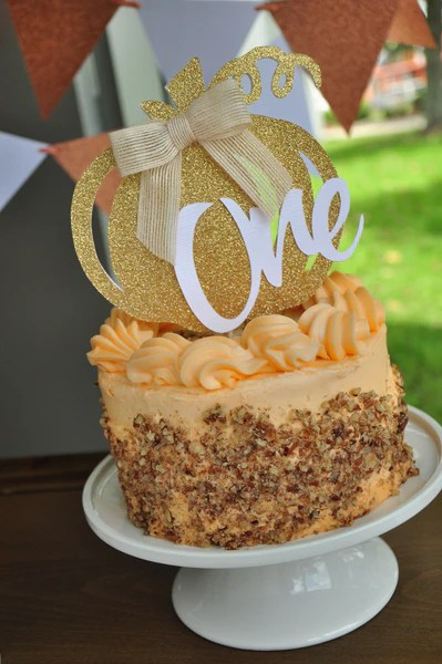 Our Little Pumpkin Is Turning One Smash Cake Topper