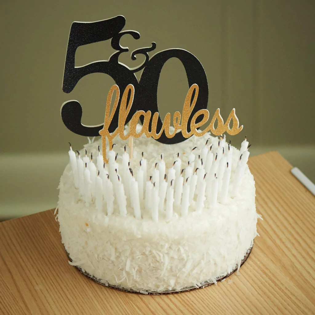 50th Birthday Cake Topper Ships In 1 3 Business Days 50