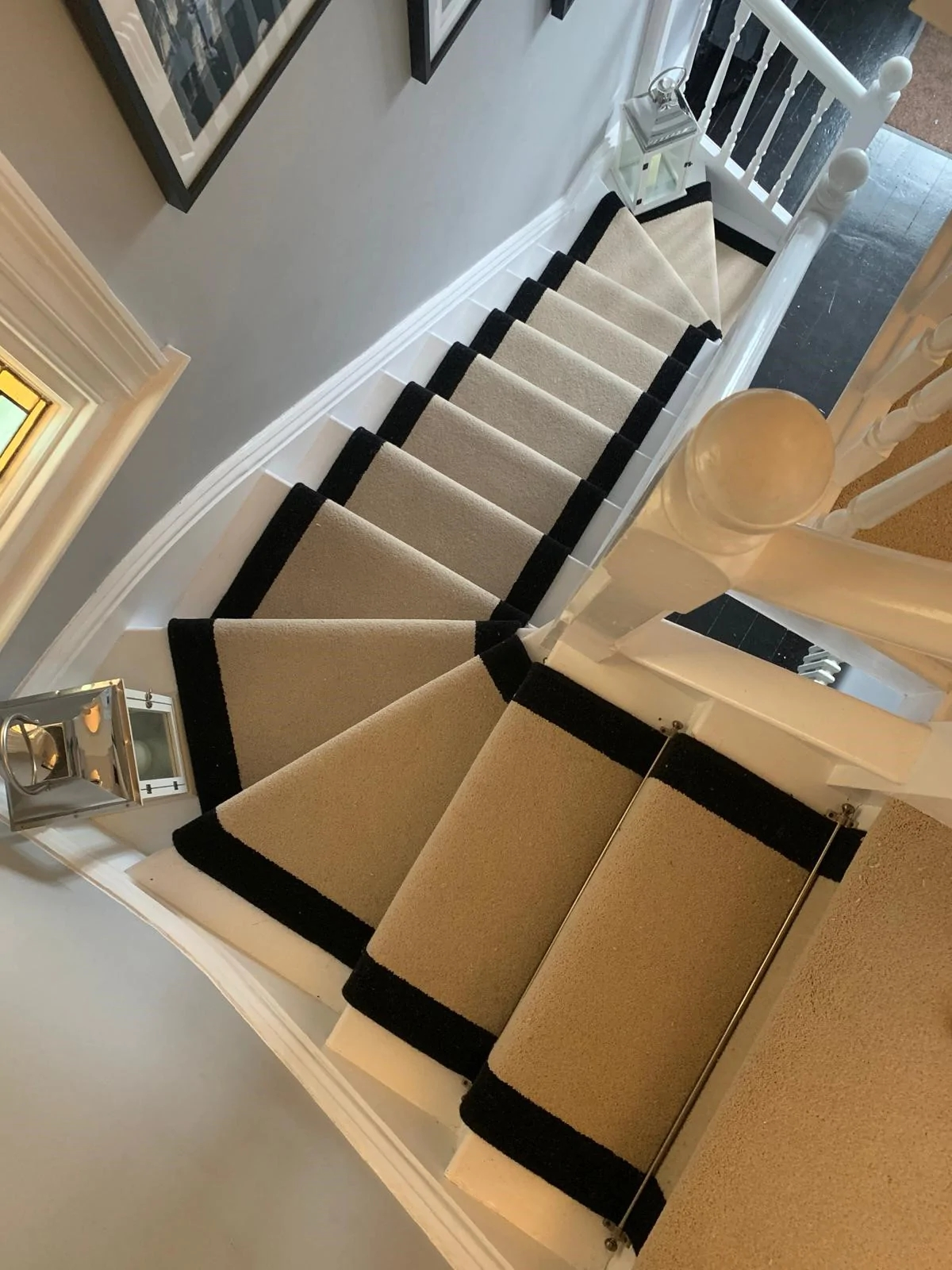 We Are Over The Moon With Our Stair Runner And Landing Carpet   Runners On Stairs With Landings   Roger Oates   French Tuck   Annie Selke   Before And After   Runners Up