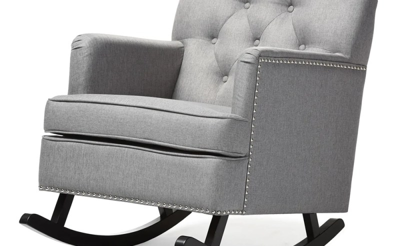 Excellent Tufted Rocking Chair For Nursery Beauty Within Clinic Beatyapartments Chair Design Images Beatyapartmentscom