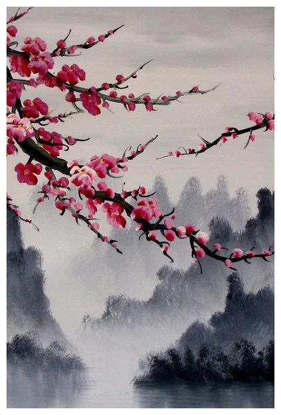 Temple Cherry Blossoms China