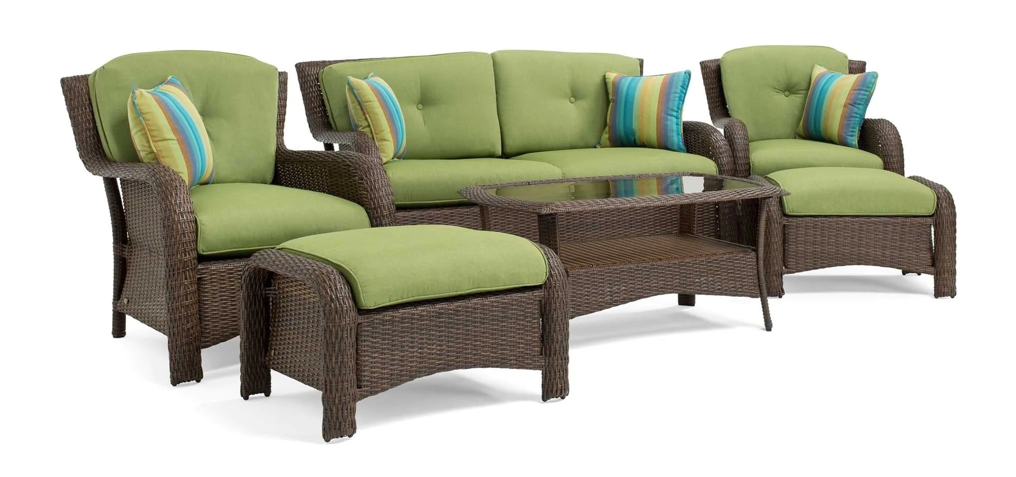Sawyer 6pc Resin Wicker Patio Furniture Conversation Set  Green     Sawyer 6 Piece Resin Wicker Patio Furniture Conversation Set  Cilantro  Green