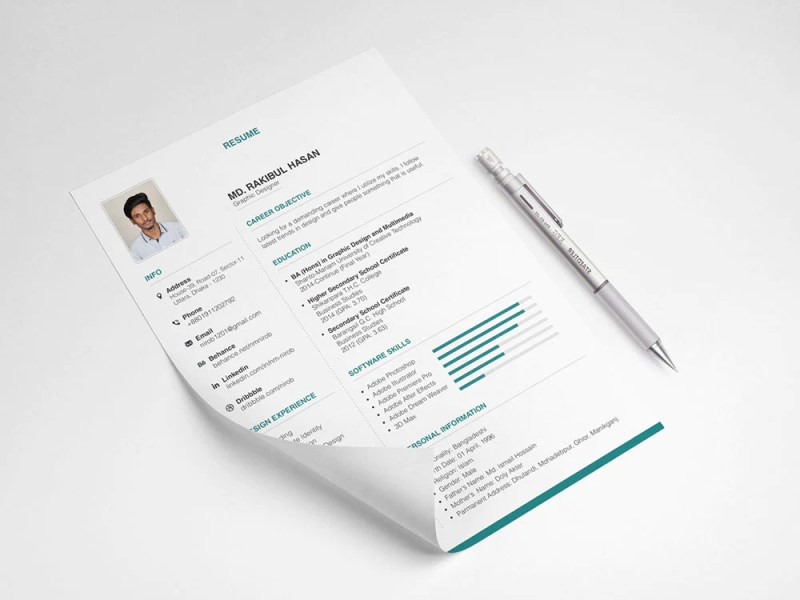 Free Elegant and Stylish Resume CV Template in Illustrator  AI     Free Elegant and Stylish Resume CV Template in Illustrator  AI  Format