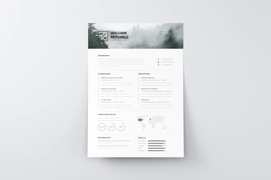 Free Minimalistic And Clean Resume Template   CreativeBooster Free Minimalistic And Clean Resume Template