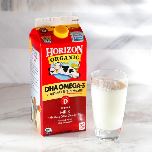 Horizon Organic Whole Milk W Dha Omega 3 Milk And Eggs