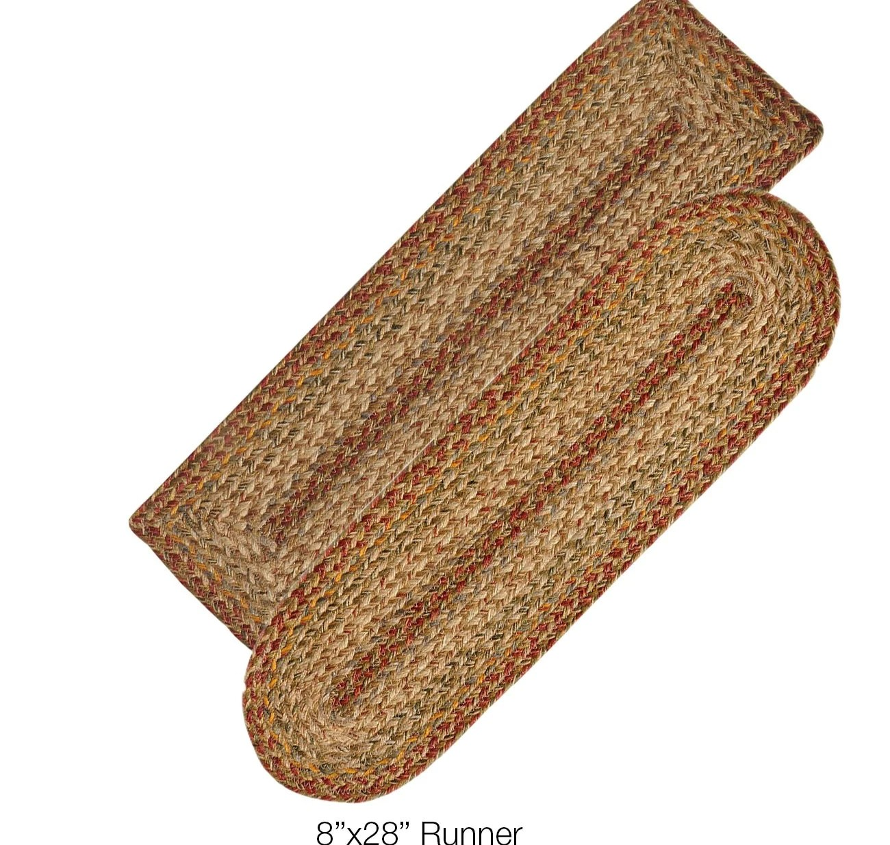 Harvest Jute Braided Stair Treads Or Table Runner – Dl Country Barn   Braided Stair Tread Rugs   Olive Burgundy   Tree Hill   Rhody Rug   Shape Oval   Indoor Outdoor
