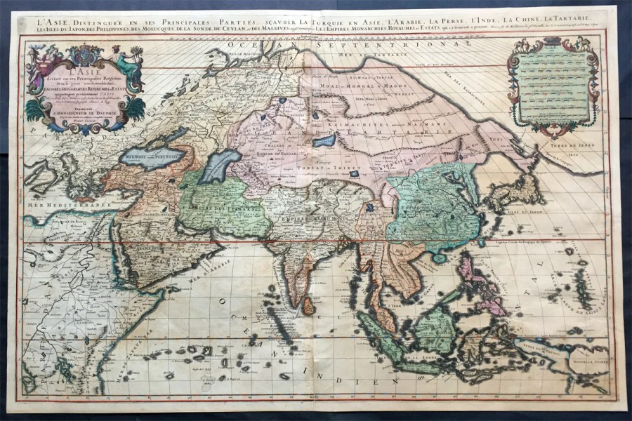 1692 Jaillot Very Large Antique Map of Asia China  SE Asia  Middle     1692 Jaillot Very Large Antique Map of Asia China  SE Asia  Middle East   Russia