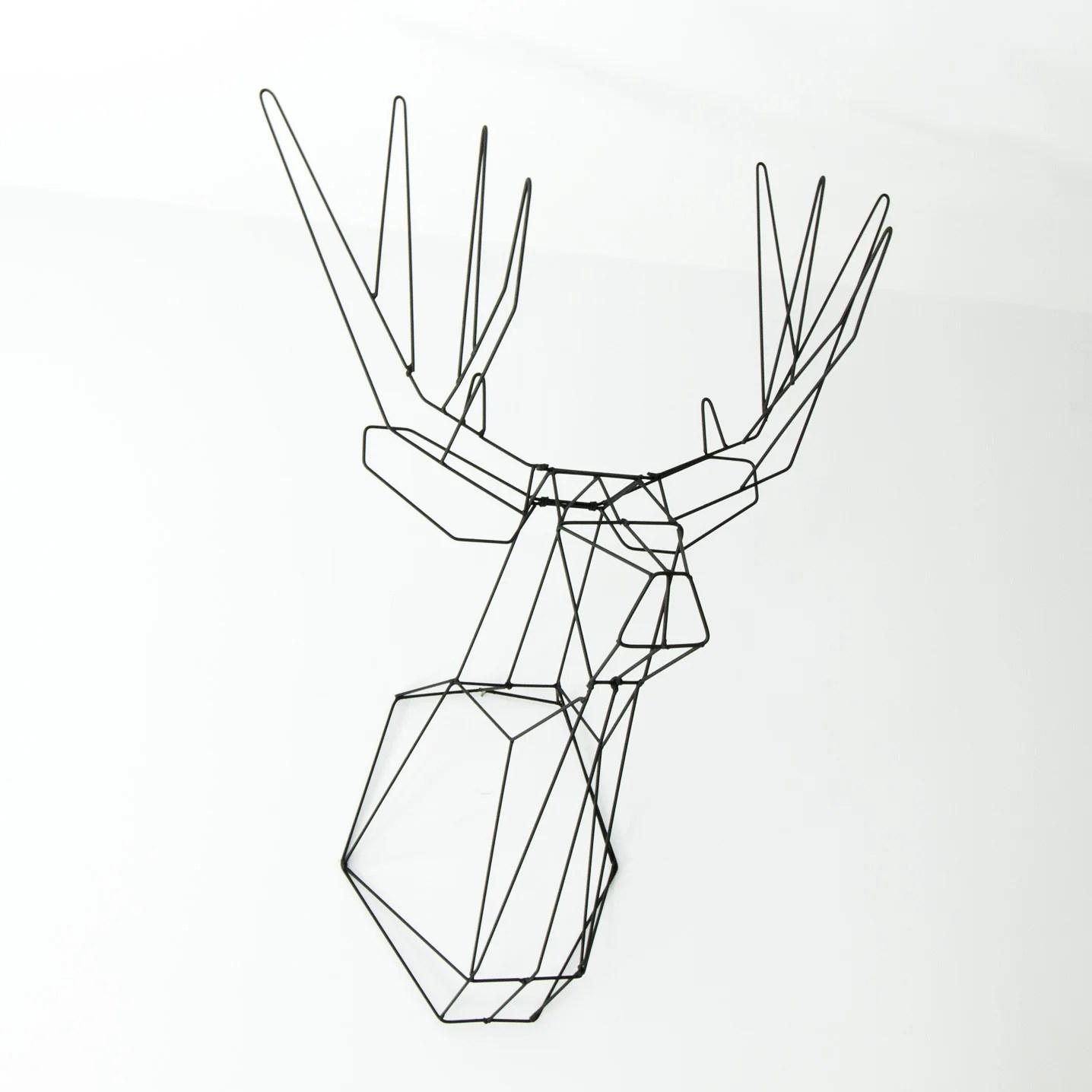 Wireframe deer head faux taxidermy onixx