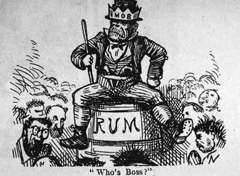 History of the Portland Rum Riot  A Spirit Worth Rioting over     Rum Riot political cartoon