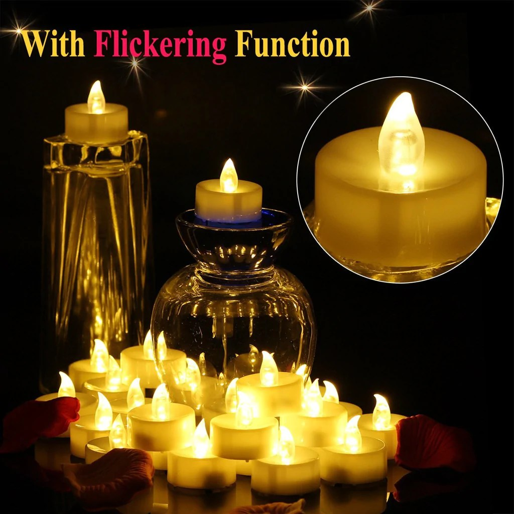 Operated Battery Candle Flickering Timer