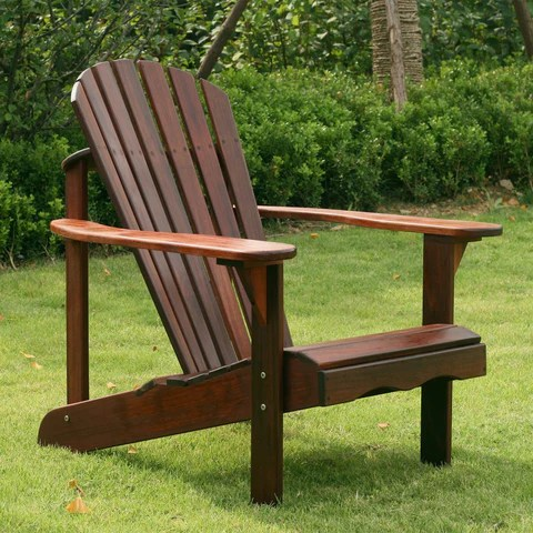 Wood Porch Swing For Patio And Garden 4 Ft In Dark Brown