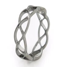 Womens Collection   Pure Titanium Rings endless love  this fine lace Celtic pattern represents infinity  Womens Ring   Mens Ring