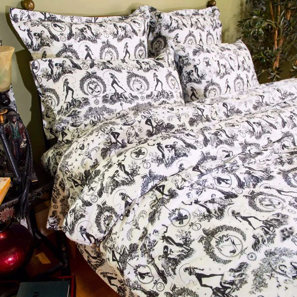Bed Sheet Sets Fetish Al Fresco Toile Print Bedding