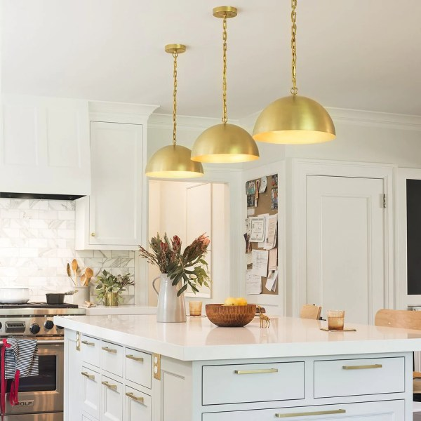 placement of pendant lights over kitchen island # 6