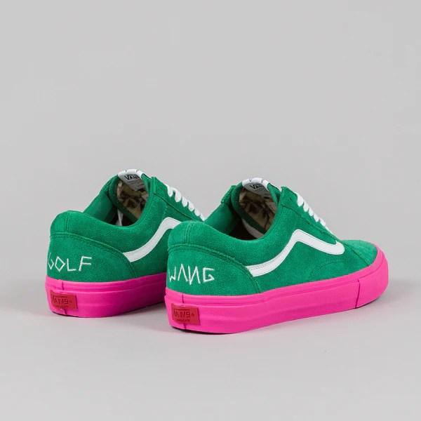 Vans Syndicate Old Skool Pro 'S' (Golf Wang) Green/Pink ...