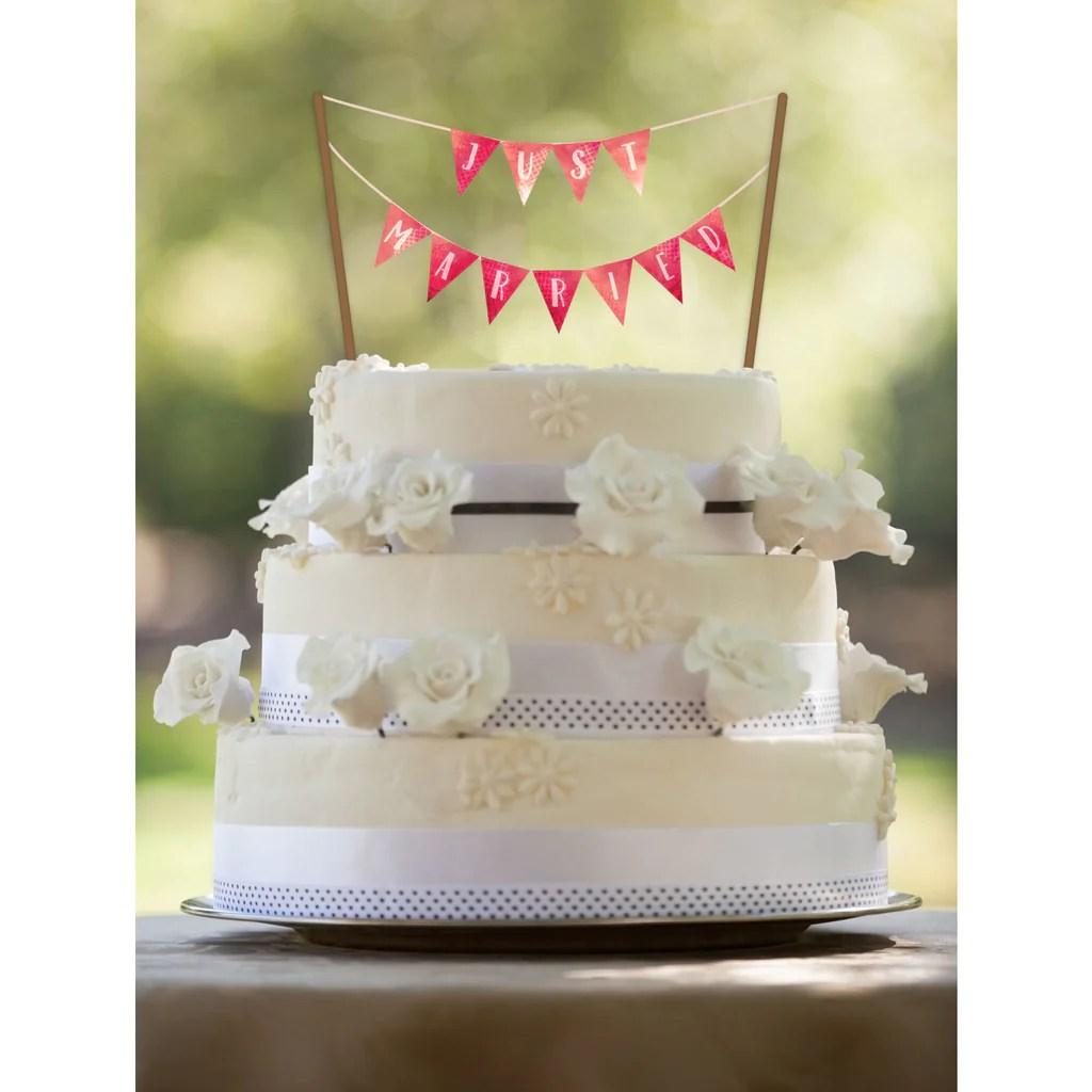 Water Color Printable Wedding Banner Printable Cake