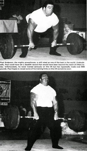Strongman Paul Anderson Training Routines Strength