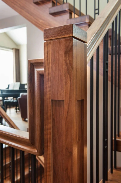 Guide 5 Keys To Unlock Craftsman Design For Your Stairs – Custom | Craftsman Style Newel Post | Design | Staircase | Railing | Square | Interior