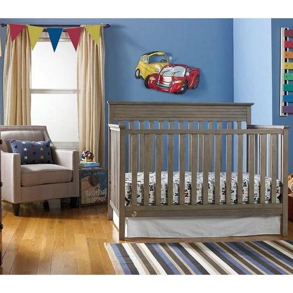 Fisher Price Newbury Convertible Crib Vintage Grey