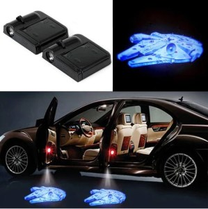 Car Accessories   www gobazzola com 2 STAR WARS MILLENNIUM FALCON WIRELESS LED CAR DOOR SHADOW LIGHT