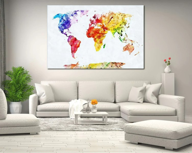 Watercolor world map canvas full hd pictures 4k ultra full canvas art by michael trademark art watercolor world map iii canvas art by michael tompsett watercolor world map ready to hang canvas print zellart gumiabroncs