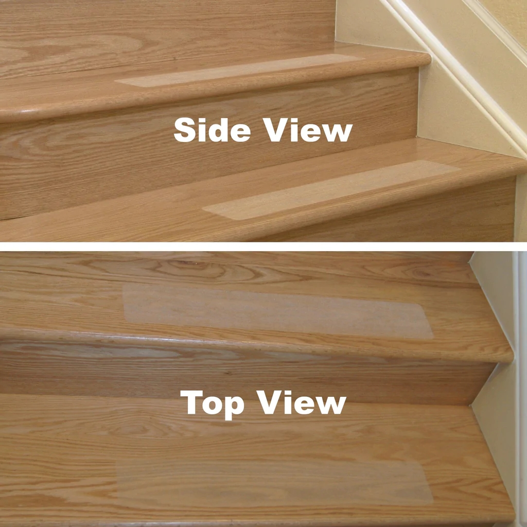 Anti Slip Stair Treads With Superior Grip Stead Treads – Neater Nest | Safety Treads For Wooden Stairs | Anti Slip Stair Nosing | Rubber | Pet Friendly | Slip Resistant | Floating Staircase