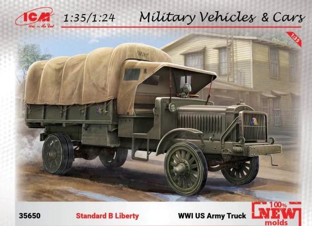 Icm Military Models 1 35 Wwi Us Standard B Liberty Army
