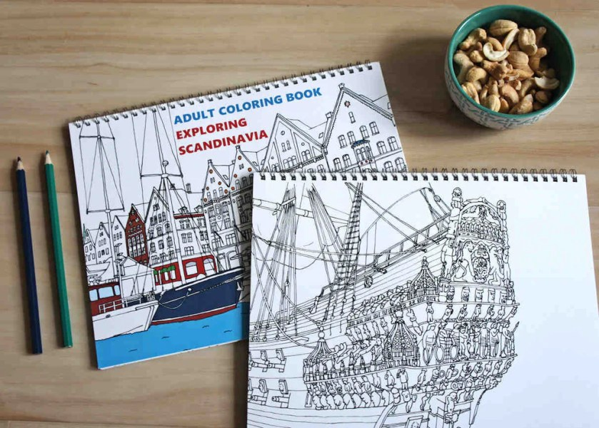 Exploring Scandinavia Adult Coloring Book VIP