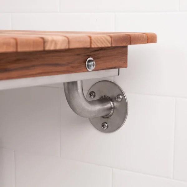 Ada Compliant Folding Teak Shower Bench Boomly