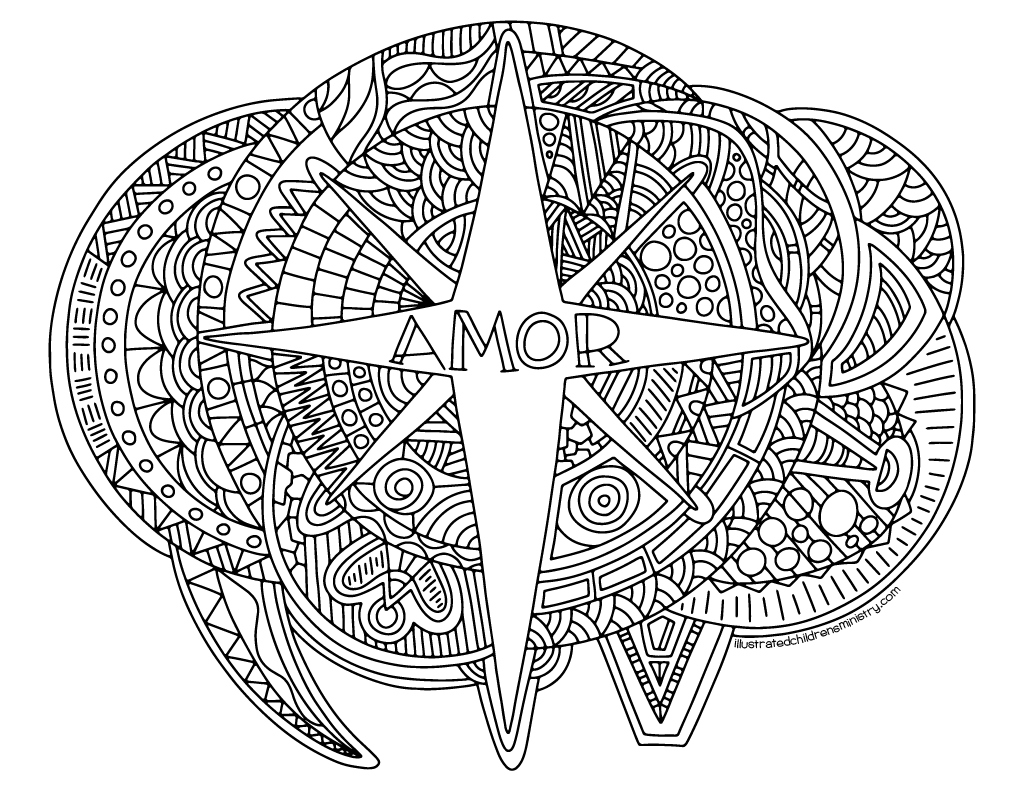 Advent Coloring Sheets Spanish Language Version Illustrated